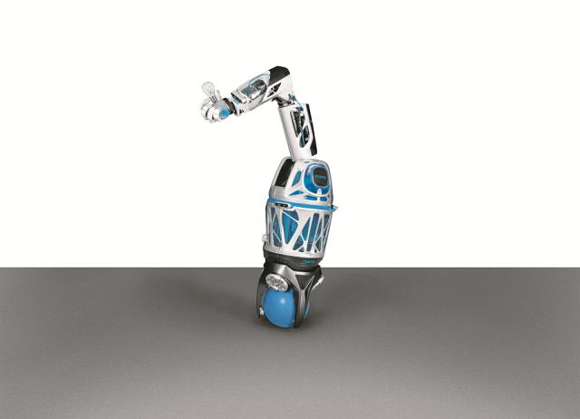 Festo actualiza su BionicSoftHand con un sistema de robot móvil