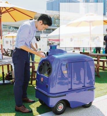 Robot entrega pedidos de comida