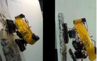 Desarrollan un robot escalador capaz de llevar 5 veces su propio peso