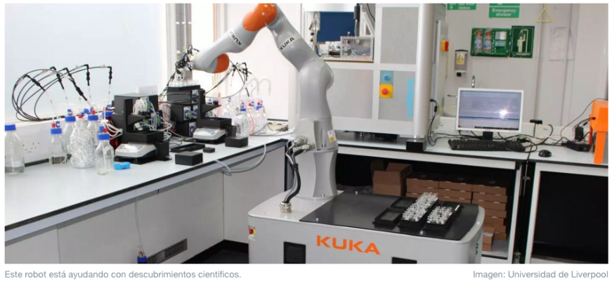 Este robot científico realiza experimentos por sí mismo