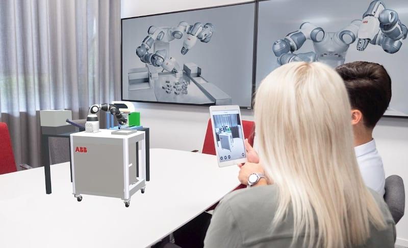 Realidad aumentada para simplificar las instalaciones de robots
