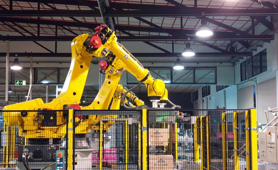 Inser Robótica desarrolla cuatro sistemas de paletizado automático para Bodegas Fundador