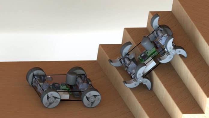 El Robot α-WaLTR puede Transformar sus Ruedas en Patas según la Necesidad