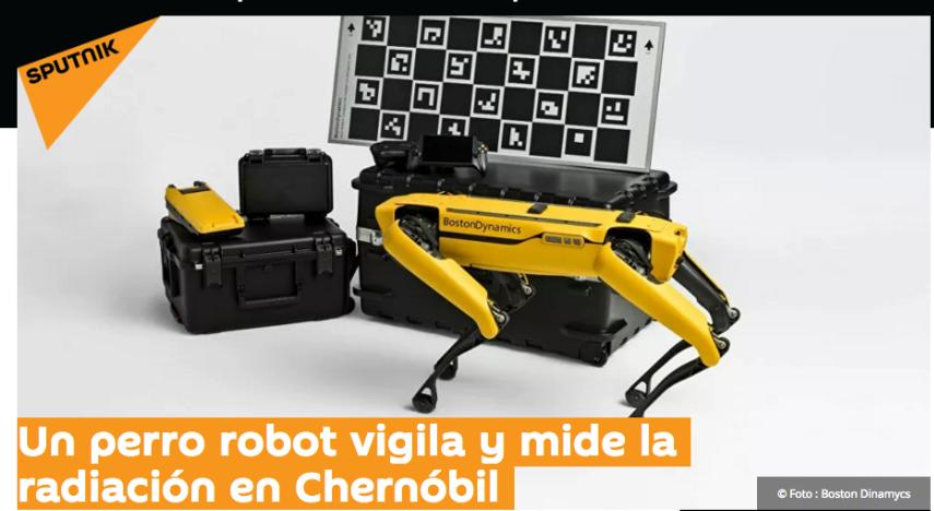 Un perro robot vigila y mide la radiación en Chernóbil