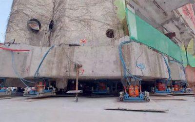 La robótica hace caminar a un edificio de 7.600 toneladas en Shanghái