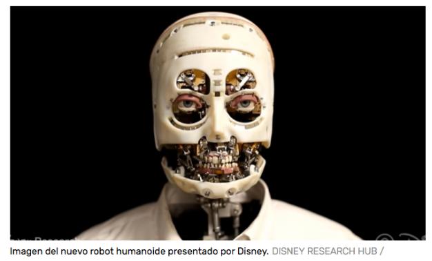 Así es el Nuevo e Inquietante Robot Humanoide de Disney