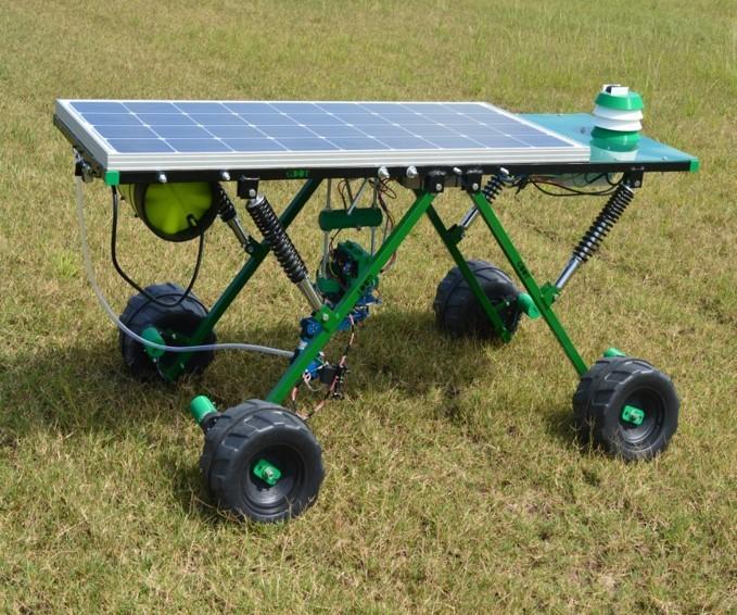 Robot argentino que busca reemplazar el glifosato: mata malezas con rayo láser y funciona con luz solar