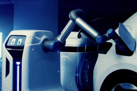 Beep Boop, el robot con el que Volkswagen cargará sus coches eléctricos