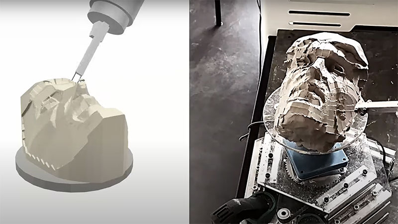 Disney está enseñando a los robots a esculpir esculturas de arcilla