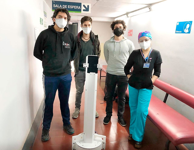 El robot chileno que está revolucionando la pandemia de COVID-19