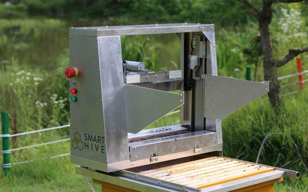 El robot apicultor: así extrae los panales de las colmenas en tiempo récord