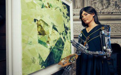 Conoce a Ai-Da, la robot artista cuya primera exhibición ya tiene ventas de 1,2 millones de dólares
