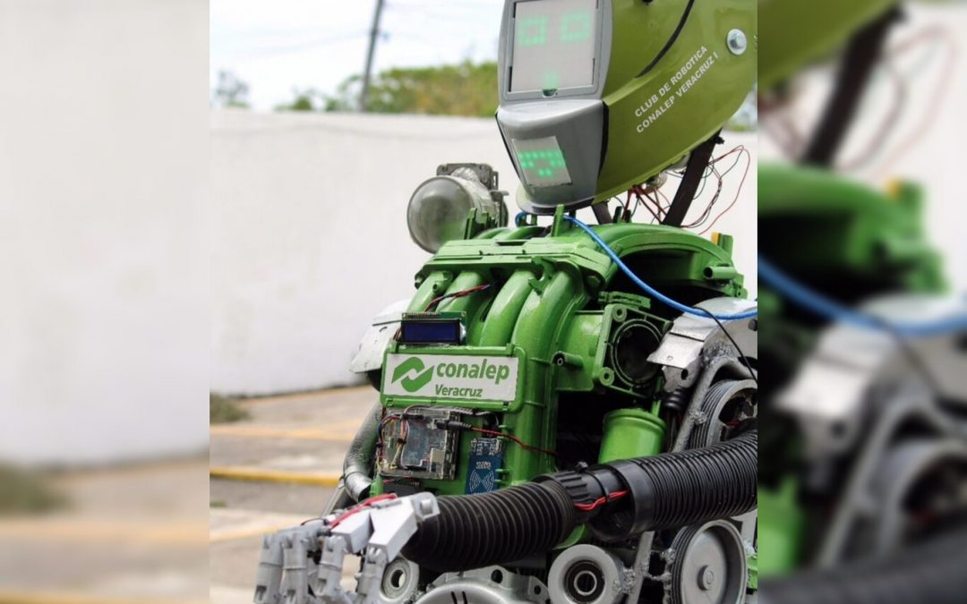 Alumnos del CONALEP de México crearon un robot para que aplique protocolos de sanitización contra COVID