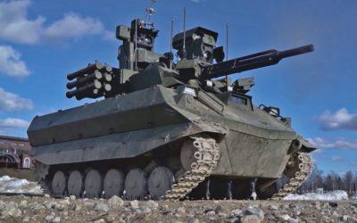 Ministerio de Defensa ruso asegura que está preparando su primera unidad militar armado con robots de ataque