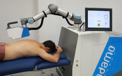 Un robot masajista que no toca la espalda del paciente y además puede medir su dolor