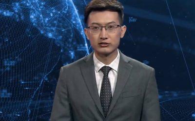 Un robot debutó como presentador de noticias en China