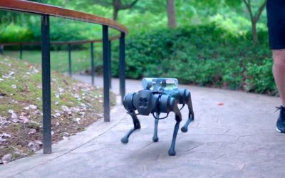 Como es el nuevo perro-robot futurista que puede salir a correr a tu lado y llevarte una botella de agua