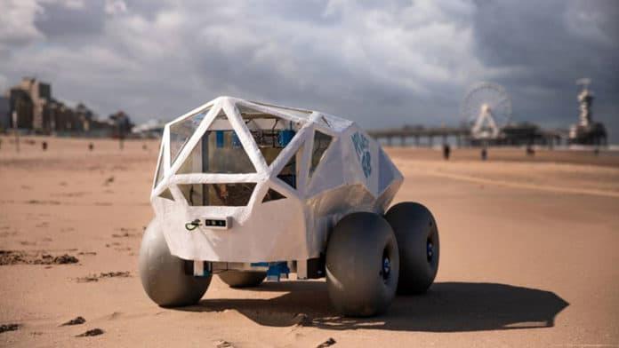 BeachBot el robot que utiliza la inteligencia artificial para limpiar colillas de cigarrillos en las playas