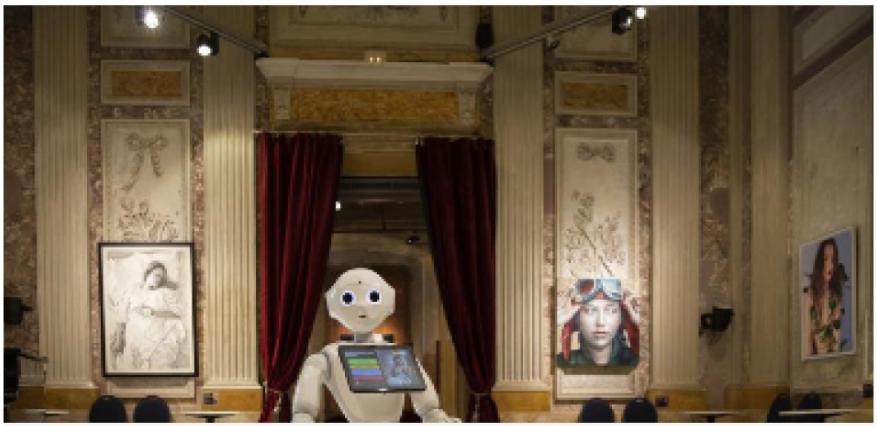 Un robot se convierte en guía de un museo
