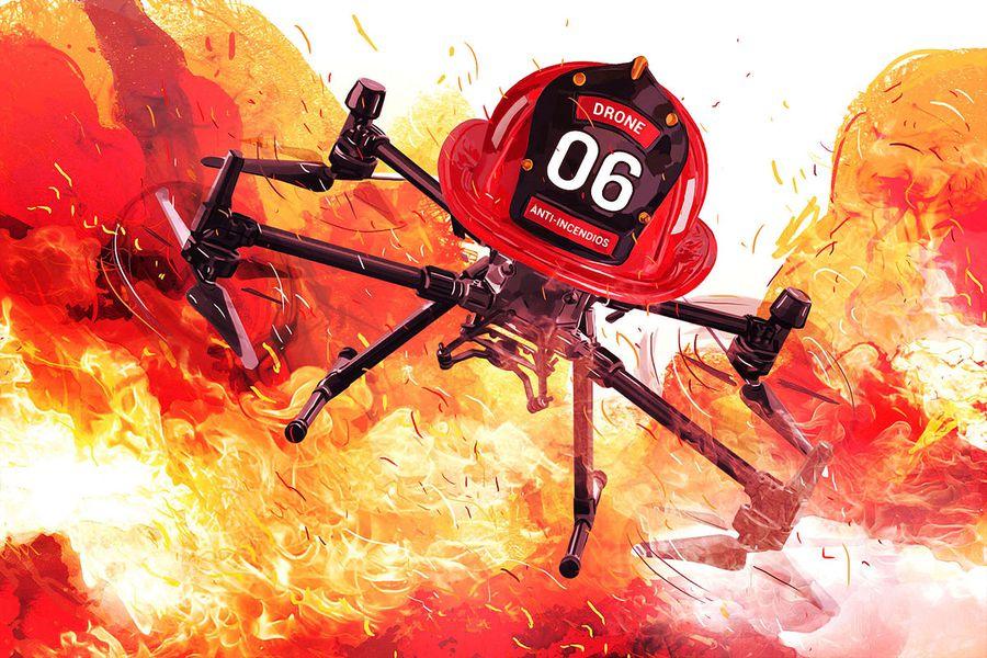 El dron chileno que ayuda a combatir incendios forestales