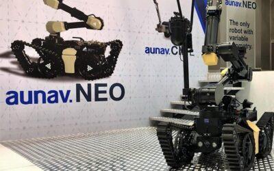 El robot más ágil de Binéfar para anular explosivos se presenta en Europa